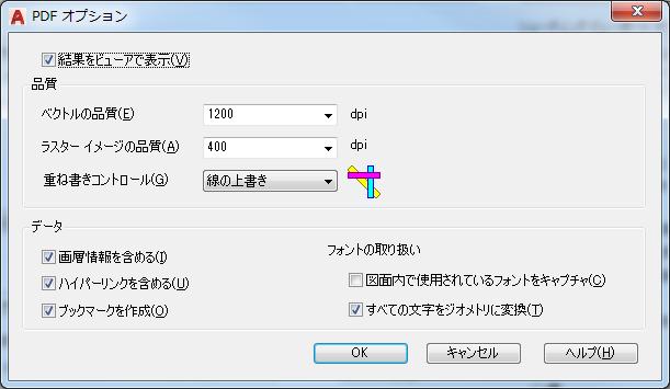 PDFオプション