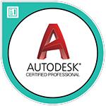 AutoCAD プロフェッショナル 認定資格 バッジ