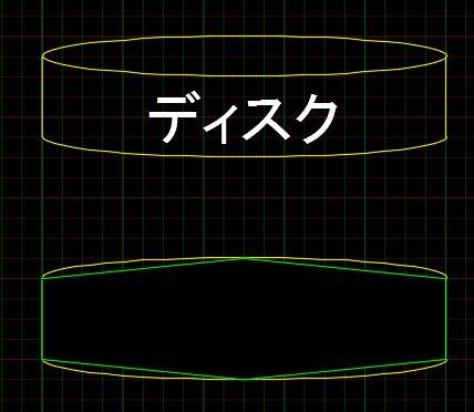 曲線記号 ワイプアウト 多角形