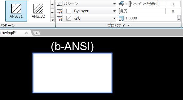 ハッチング ANSI31